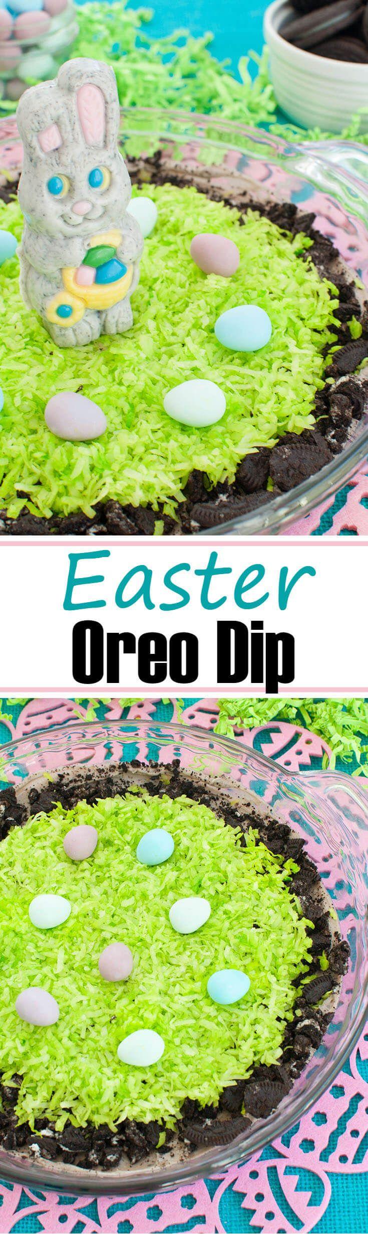 Easter ideas part 3 of 3 real deep stuff - Oreo Dip Creamy Easter Dessert Version