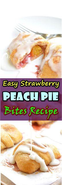 #Easy #Strawberry #Peach #Pie #Bites #Recipe Diese Erdbeerpfirsichkuchen beißen   – YUMMY FOOD RECIPES