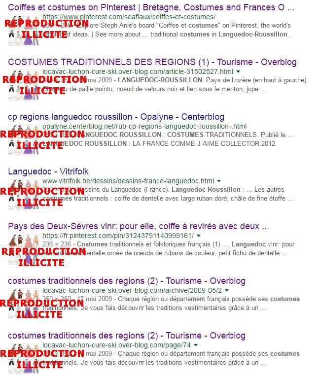 Chaque jour je fais supprimer des dizaines de dessins sur Bing, Google et Yahoo, pour reproductions illégales