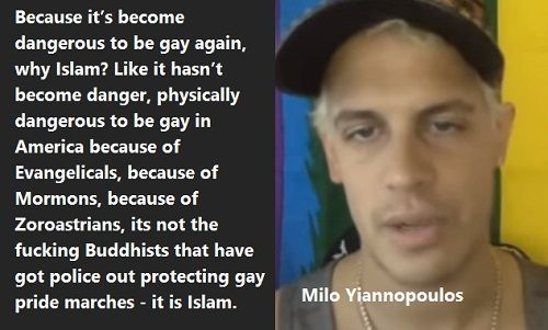 Milo Yiannopoulos Social Opinions Through Violence You Are The Problem. It's become dangerous to be gay again, why Islam?