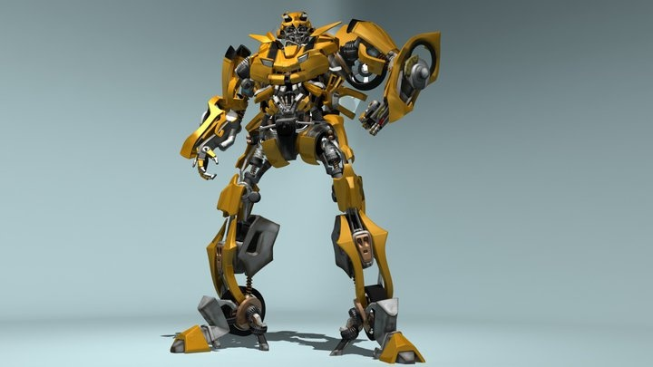 Attempt at Bumblebee  #Modelling #Bumblebee #Robots
