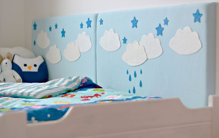 DIY craft idea: upholstered wall pillow - kids' room