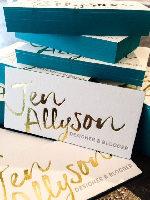 We love the gold look of these business cards #goldfoil #businesscards