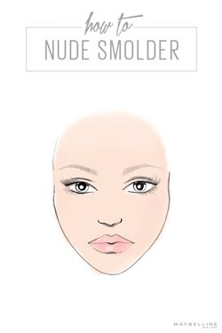 Just between us girls, this is how we like to go nude. We like to call it 'face game' and here's how to learn it, live it, and work it with the best of them: 1) use FITMe! bronzer along the cheekbones, 2) smolder with Color Molten Shadow in Nude Rush on the eyelids 3) turn up the volume with layered lashes using Lash Sensational Mascara 4) finish with thick, natural brows with the Brow Precise pencil. Learn how to get more looks like this on Maybelline's blog, CITY.