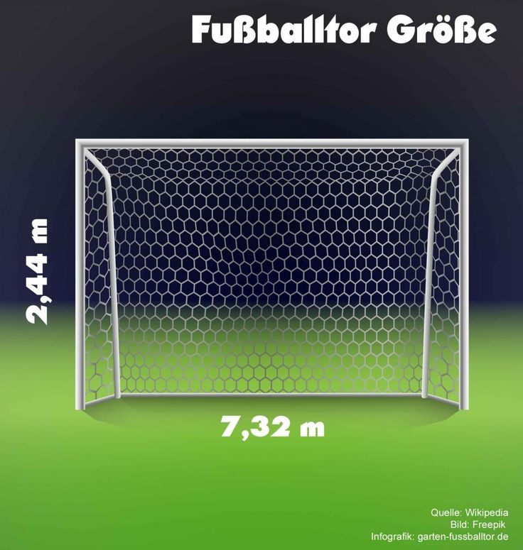 Unique Wie gro ist ein offizielles Fu balltor Welche Ma e hat es Fussballtore Garten Pinterest Ein and Hats