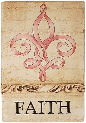 """I would love this Fleur De Lis tattooed on my right wrist in the pink with """"Avoir la Foi"""" under it. <3"""