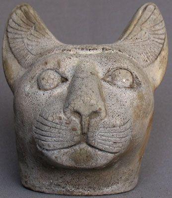 """Бог Баст - Бастет """"начальник КПП"""" Продано два раза на eBay в течение одного месяца (высота:. 15 см) поддельные статуи 4б НЕ НАСТОЯЩИЕ Продано eBay продавцом """"С"""" Победа ставка: US $ 560.00, закончившийся: Окт-27-05 На аукционе является египетский твердый камень Бог Бастет """"начальник КПП"""", Египет, поздний период династии 26. очень привлекательный, редкий и очень твердый кусок, чтобы найти."""