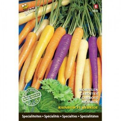 Rainbow #wortelen, dat is nog eens iets aparts. Verschillend gekleurde wortelen, zelf te zaaien en op te kweken. Bestellen kan bij huisentuinkado.nl