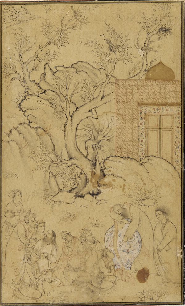 Safavid period - Arts of the Islamic World | Album page: a group of dervishes |