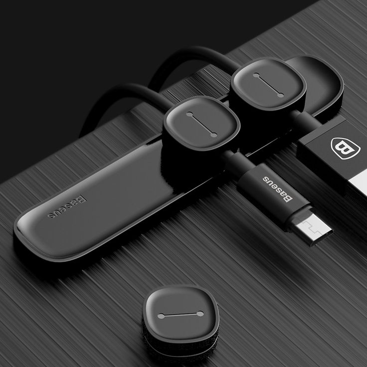 Baseus Magnetic Cable Clips Cable Holder Desktop Cable Mount Cord Management for iPhone Samsung HTC