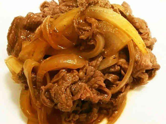 お弁当に!切り落とし牛肉のケチャップ炒めの画像