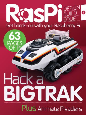 The best digital magazine for your Raspberry Pi is not to be missed. We show you how to hack into a Bigtrak RC vehicle and drive it with a PS3 controller – all using the power of your Pi. We also show you another five of the very best upgrades available for you Pi, and we complete the last level of our tutorial on programming games by adding animation and sound effects to Pivaders.