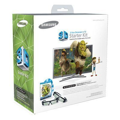 """Samsung SSG-P2100S/ZA Shrek 3D Starter Kit - Black (Compatible with 2010 3D TVs) by Samsung. $179.89. """"Shrek 3D Collection"""" 3D Starter Kit resulting in more natural rendering of colors and lifelike action. Samsung HDTVs are also ENERGY STAR compliant, helping the environment by using less energy while saving you money.. Save 64% Off!"""