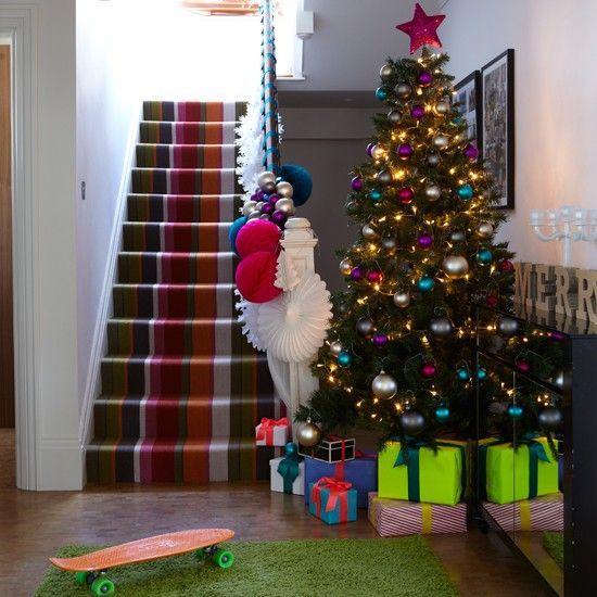 37 best Christmas Hallways images on Pinterest | Christmas hallway ...