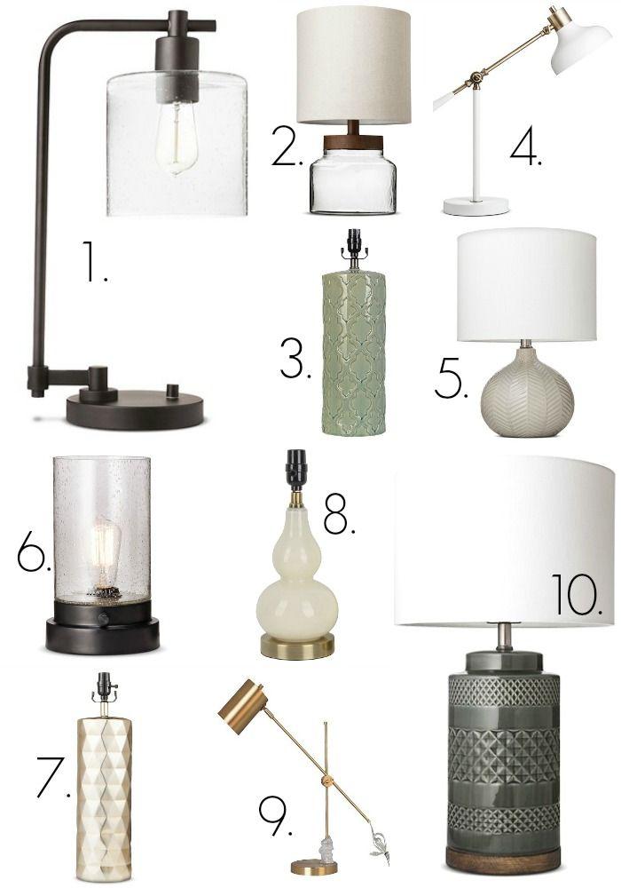 My Favorite Target table lamps