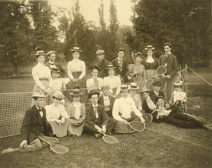 Tennis anyone? Today's #throwbackthursday is to the Prospect Park Tennis Club, c. 1900 (A982.44.5a). While Prospect Park no longer stands today, a notable Oshawa Mansion is located there now, Parkwood Estate.  #tbt #oshawa #ouroshawa #vintage #oshawamuseum