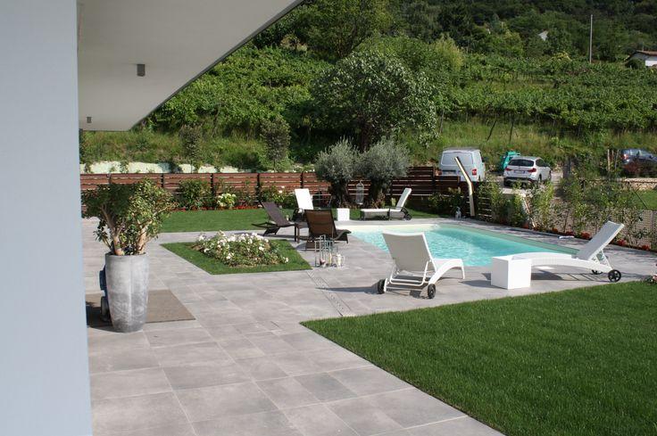 giardino con piscina - villa bifamiliare a Paratico