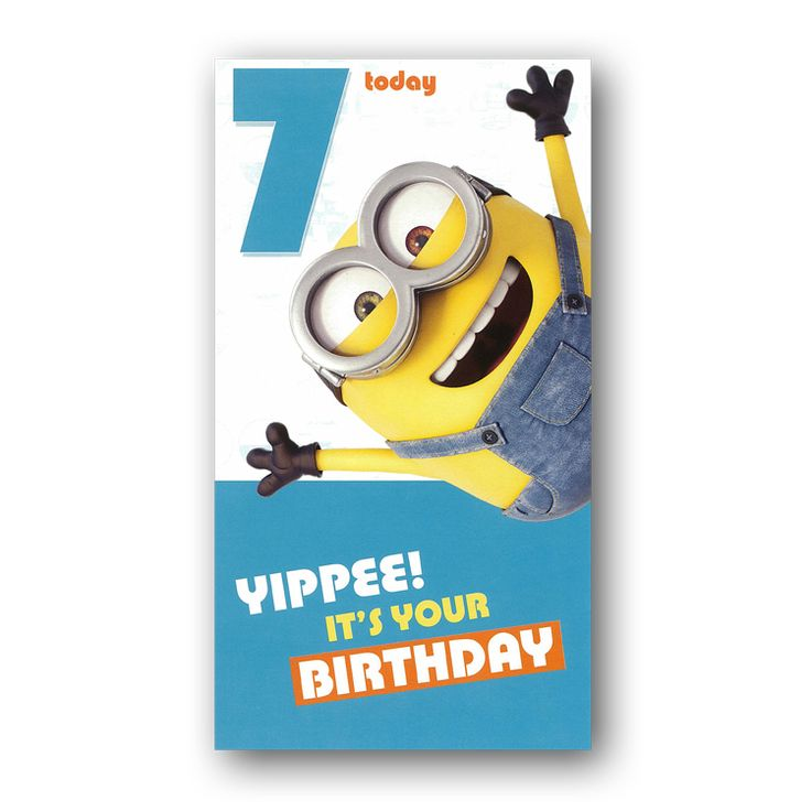 22 best minions birthday cards images on pinterest birthday minions 7th birthday card bookmarktalkfo Image collections