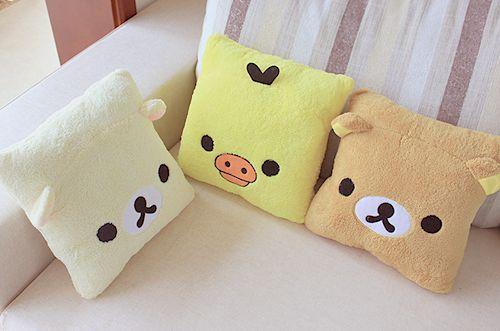 Korilakkuma, Kiiroitori & Rilakkuma cushion <3