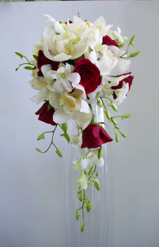 This. I love orchids and roses! For mine I would want the deep blue orchids and white roses though.
