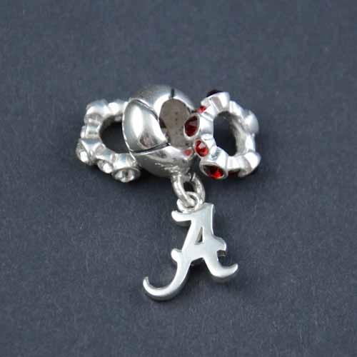 Alabama Charm Bracelet: Alabama Silver Charm Bead Set - Pandora Beads