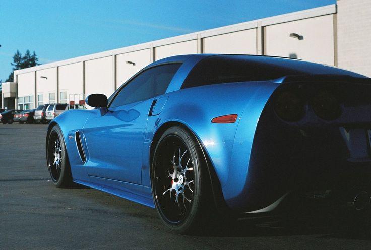 Jet Stream Blue 2008 Corvette Z06