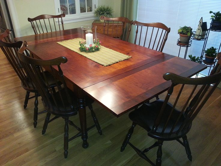 Stow Away Table With The Leaves Extended On