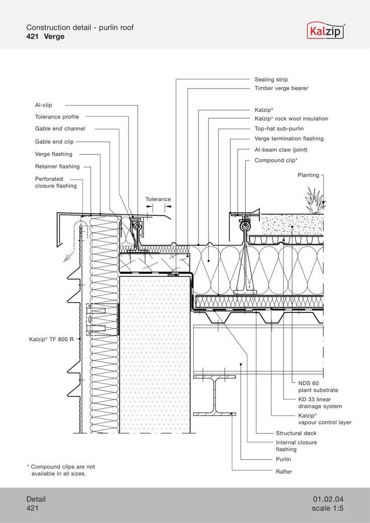 Kalzip Construction Details Detail Pinterest