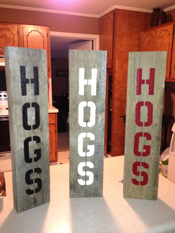 Arkansas Razorback Hogs Sign by Baytique on Etsy, $15.00