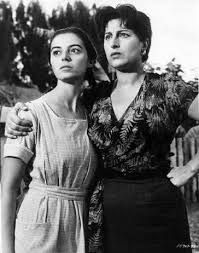 """Anna Magnani with Marisa Pavan in """"The Rose Tattoo"""""""