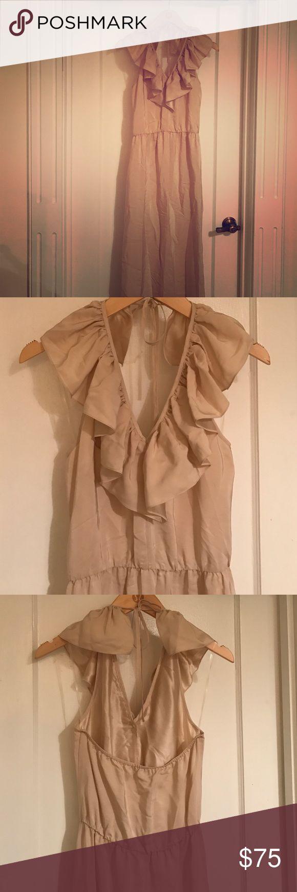 Amanda Uprichard Formal Dress Never worn, nude low cut dress Amanda Uprichard Dresses Maxi