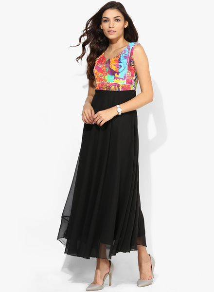 Buy Salt Multicoloured Printed Maxi Dress for Women Online India, Best Prices, Reviews | SA453WA92FITINDFAS