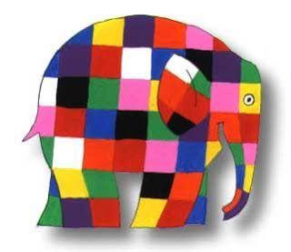Genial proyecto de arte infantil sobre el autor de Elmer