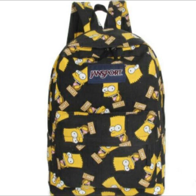 ccc4a5731b80 BRAND NEW) Bart Simpson Jansport backpack, Women's Fashion on ...