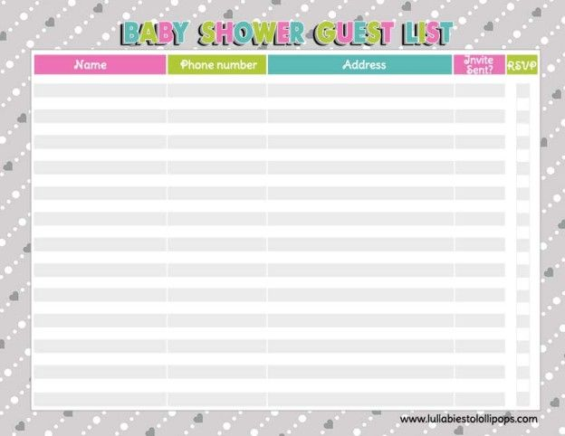 free printable baby shower checklist baby shower guest list who to