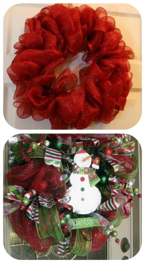 How to make mesh wreath