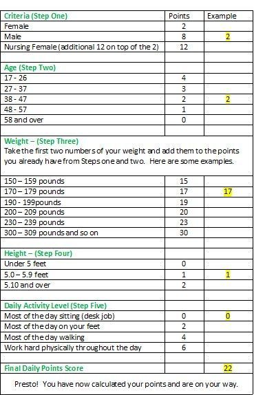 Weight Watchers Points Chart Printable | Weight Watchers Program – Pros and Cons by sheryl