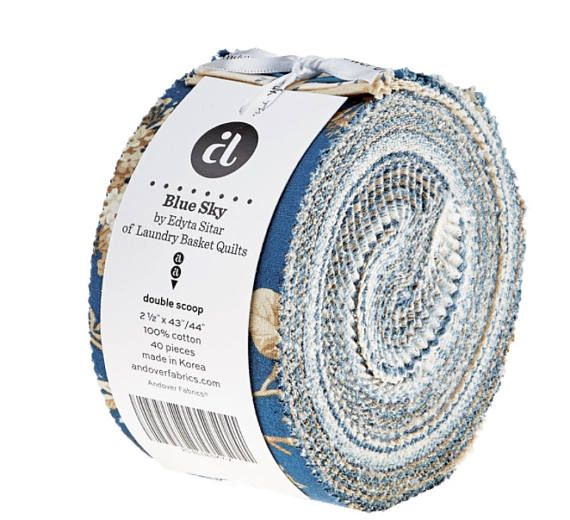 Andover Fabric Blue Sky Double Scoops/Jelly Roll by Edyta