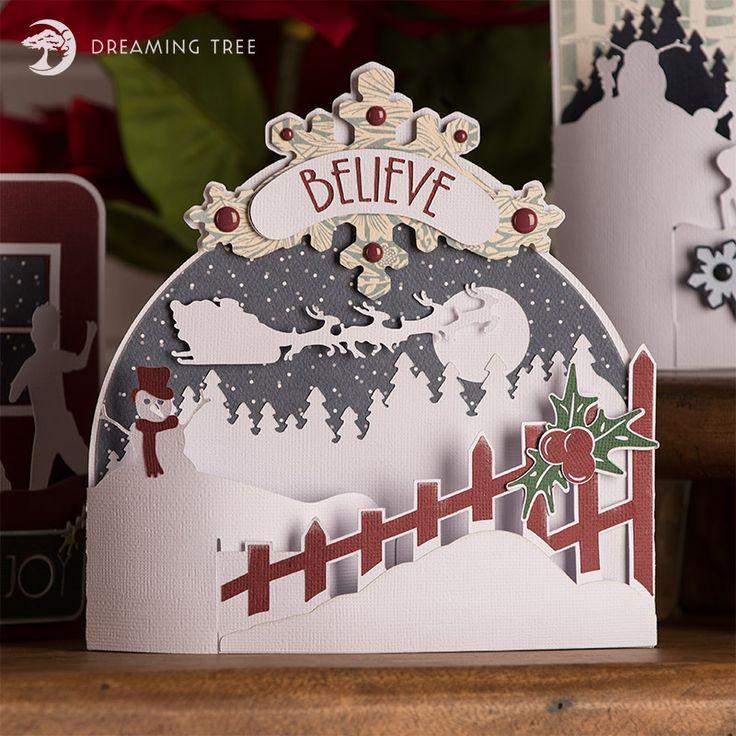 Beautiful Christmas Card SVG Cutting File from @3dsvg - #christmas #cricut #svg