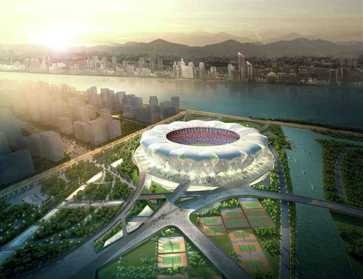 Gallery of NBBJ and CCDI Break Ground on Hangzhou Sports Park - 2