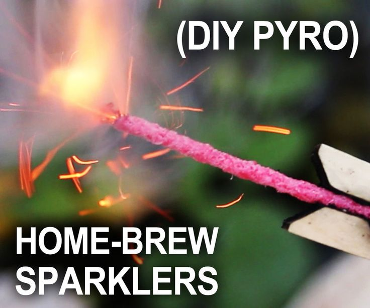 Homemade Sparklers for the 4th of July.  in no way could this possibly go wrong...