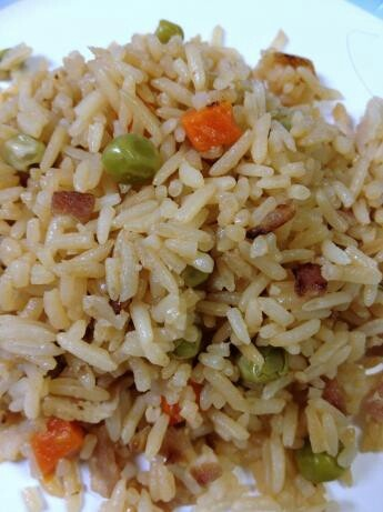fried rice with BACON!!!!!