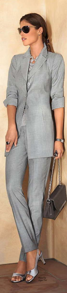 Madeleine ~ Spring Grey Pant Suit, 2015                                                                                                                                                                                 More
