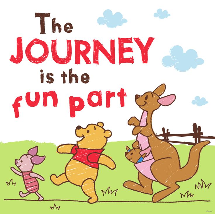 The Journey is the Fun Part ~ Winnie the Pooh Art to Brighten Up Your Day