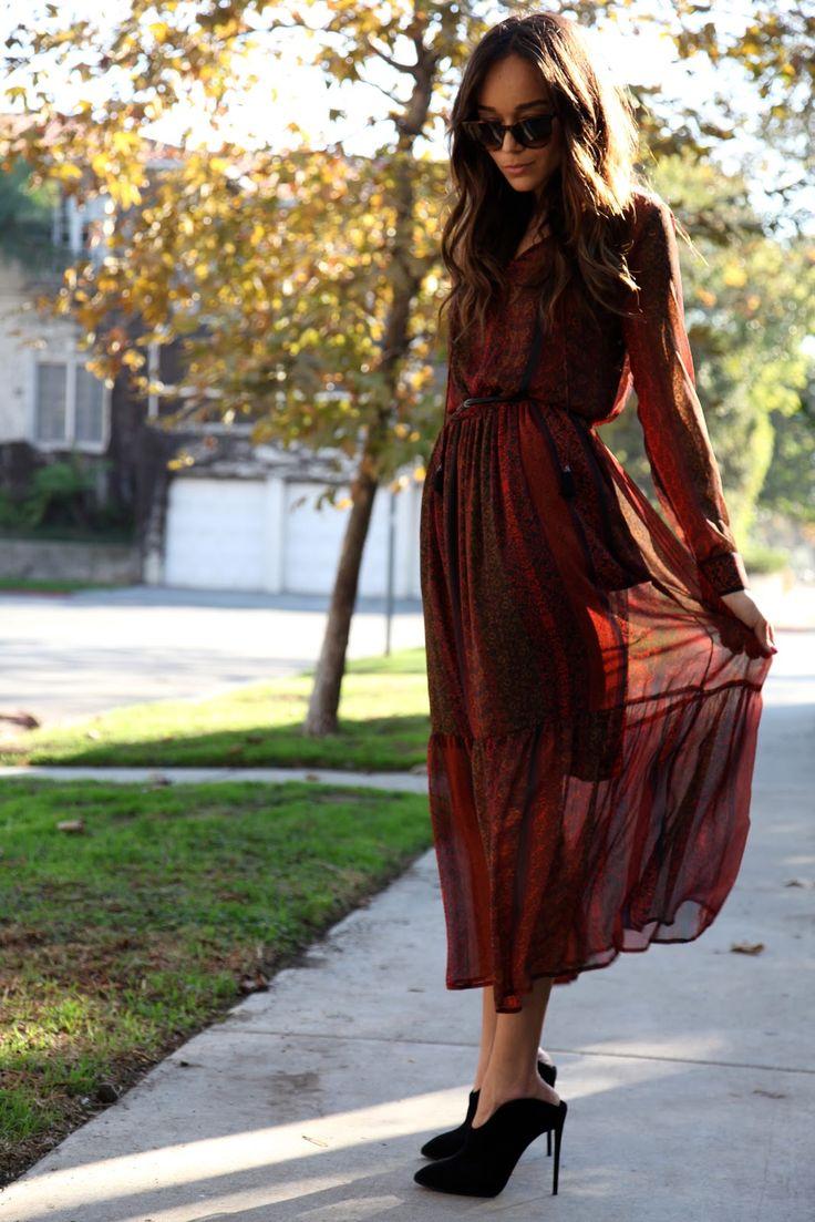 Mango dress and Giuseppe Zanotti shoes  #Boho #Ashley Madekwe