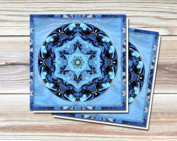 Blue Christmas Cards | Printable Greeting Cards by StudioArt108