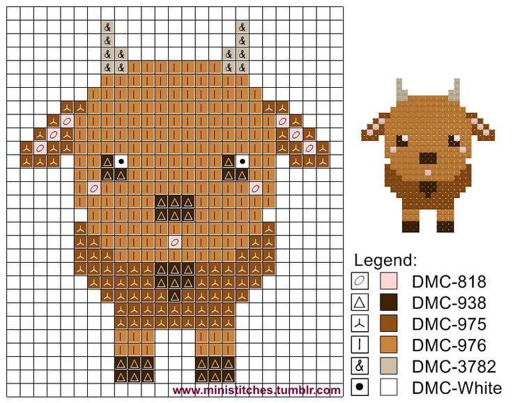 Goat pattern- diy cross stitch goat