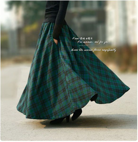 Skirt - maxi, plaid $39.00 + $13.89 from the Orchid Store