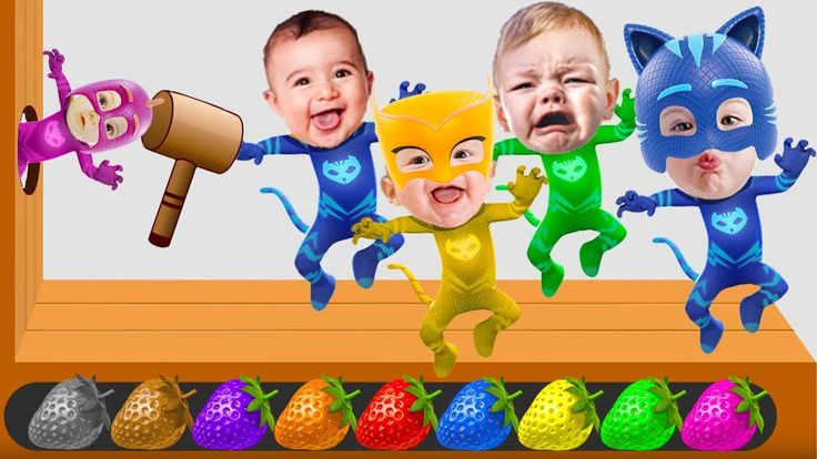 Learn Colors with Five Bad Baby Transforms into PJ Masks | Learn Colors ...