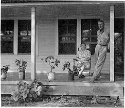 The porch was an outdoor living room, where the family could retire after the activities of a long day. In the evenings, as the outdoor air provided a cool alternative to the stuffy indoor temperatures, the entire family would move to the front porch.